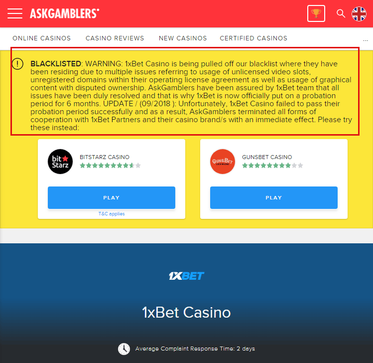 ASKGAMBLERS Black-Listed